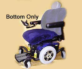 Wheelchair seat covers bottom only