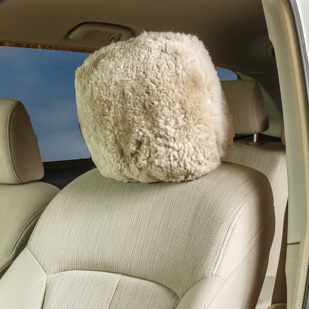 Sheepskin / Acrylic Headrest Cover