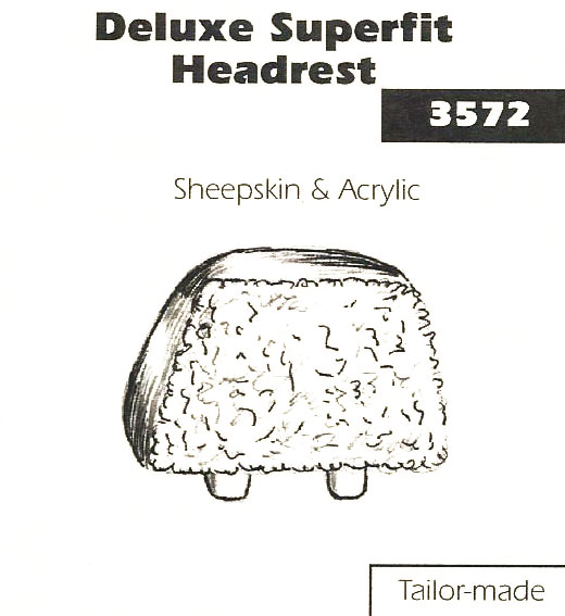 Deluxe Superfit Sheepskin and Acrylic Headrest Cover