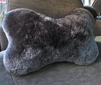 Sheepskin Neck Pillow Charcoal