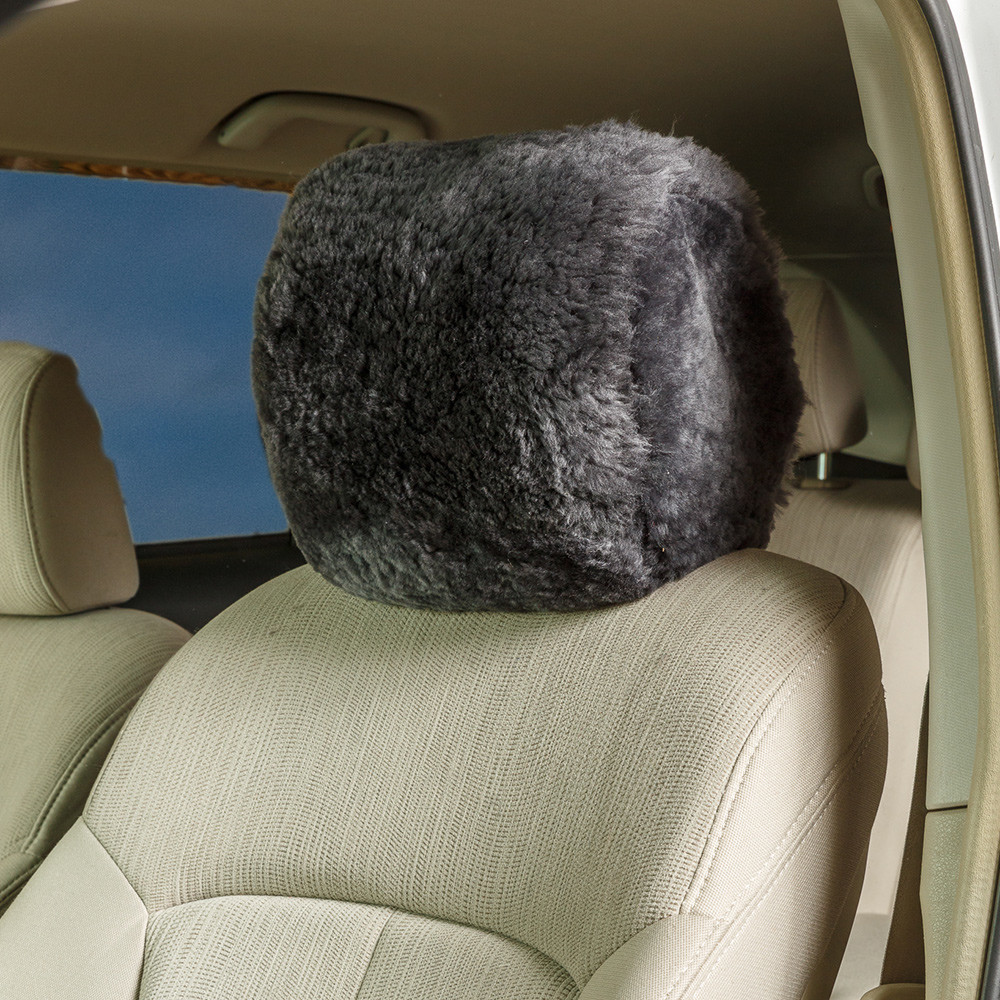 Sheepskin Headrest Covers Universal Fit