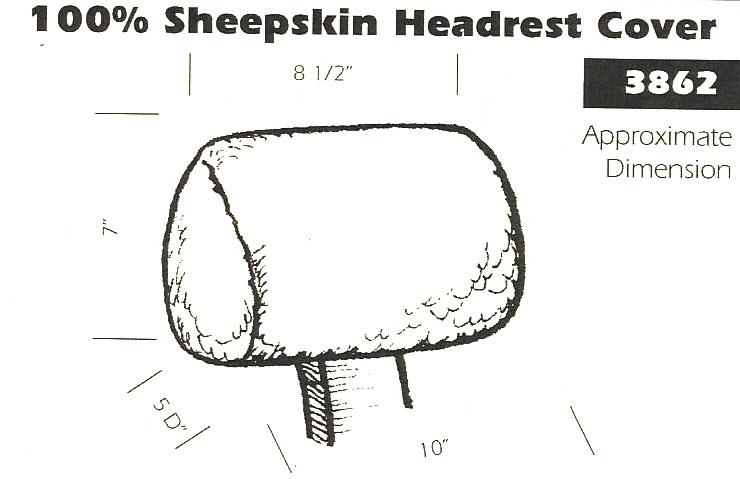 100 Sheepskin Headrest Cover