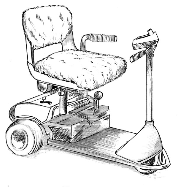 Power Wheel Chair Sheepskin Cover