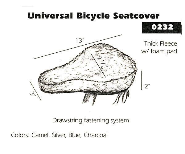 Sheepskin Bike Seat Cover