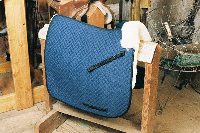 Dressage Saddle Blanket with Pommel Roll