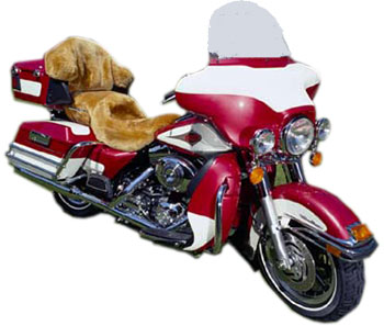 Motorcycle sheepskin seat covers