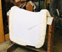 Dressage Saddle Blanket with Complete Lining & Full Roll Edge