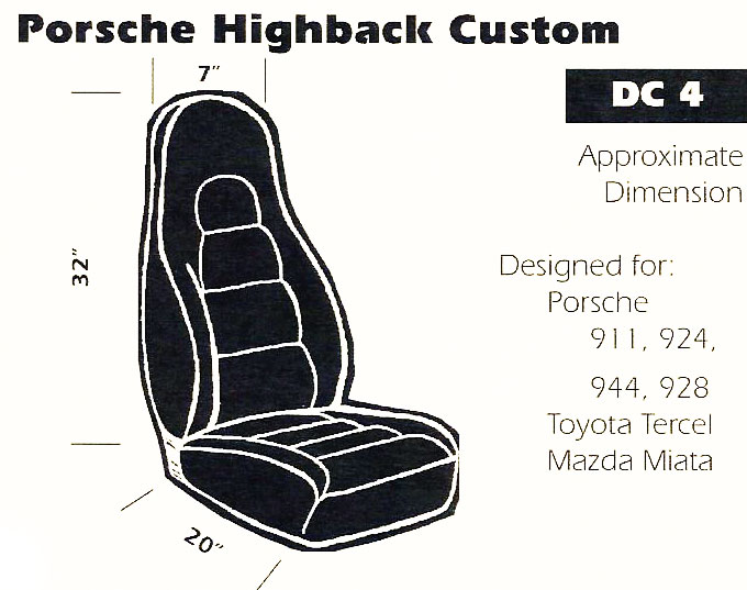 Porsche Highback Custom Bucket Seats