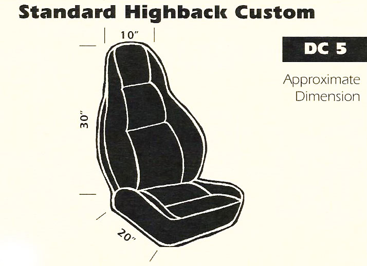 Standard Highback Custom Bucket Seat