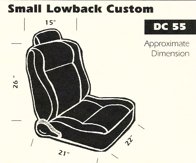 Small Lowback Custom Bucket Seat