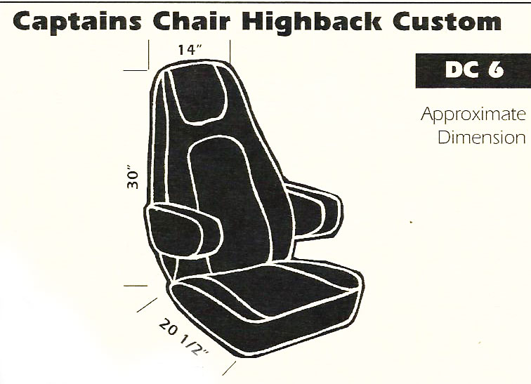 Captain's Chair Highback Custom Seat