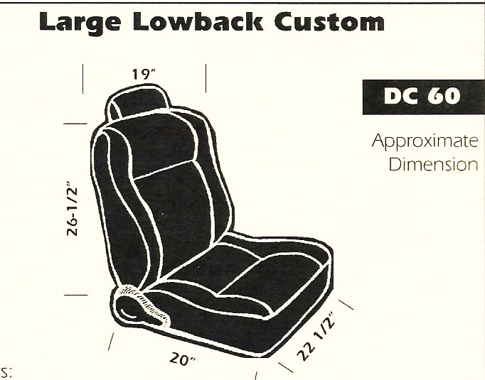 Large Lowback Custom Bucket Seat