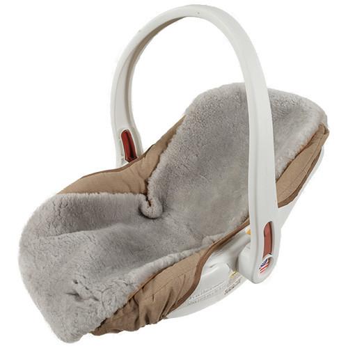 sheepskin seat cover baby car seat infant shoulder strap covers ultimate sheepskin. Black Bedroom Furniture Sets. Home Design Ideas