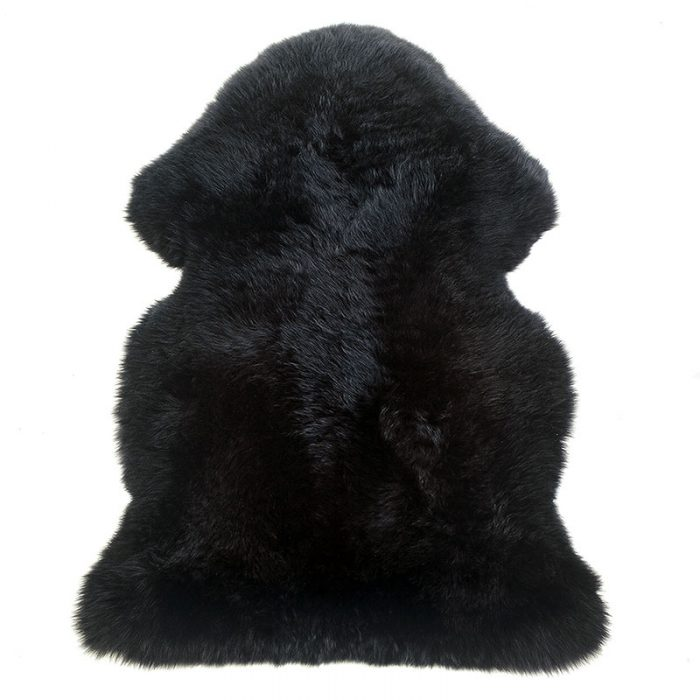 sheepskin-black rug