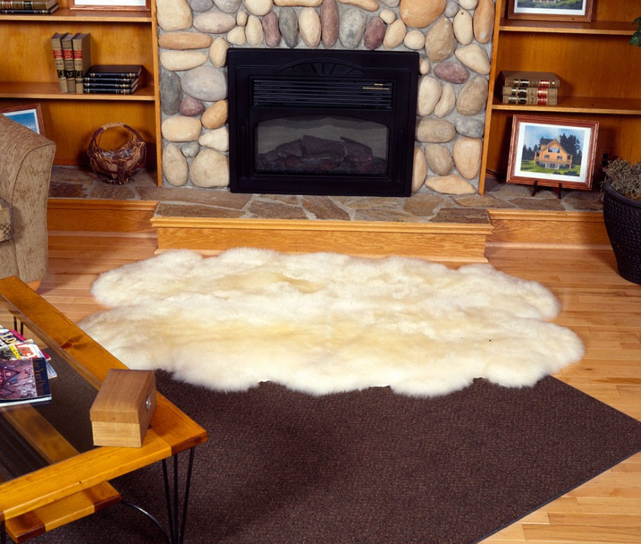 Completely New Fireplace Fur Rug Area Ideas So68