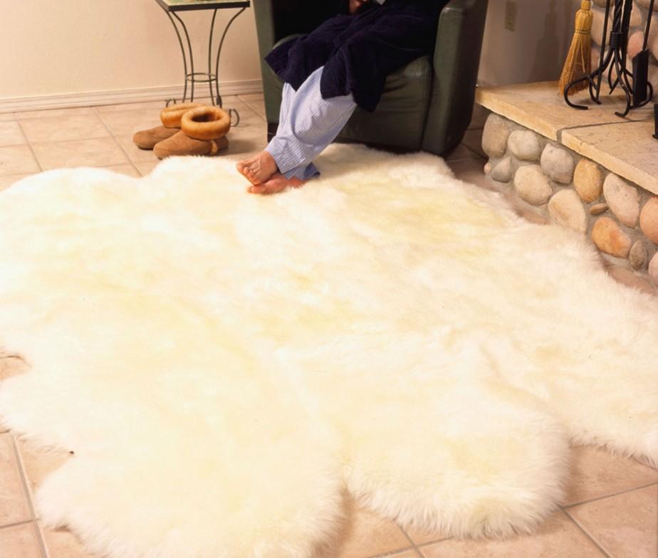 Charming Sheepskin Large Rug 6pelt