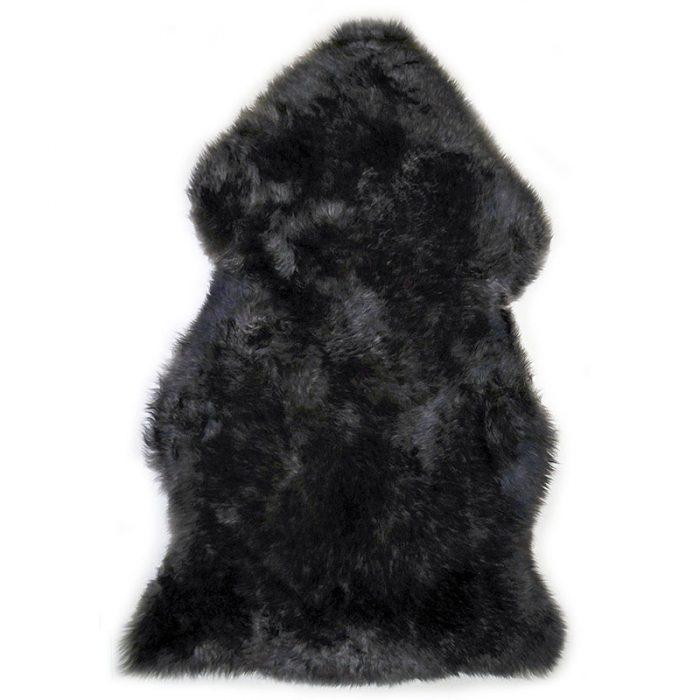 sheepskin-pewter-black rug