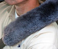 Sheepskin Seat Belt Shoulder Strap Cover