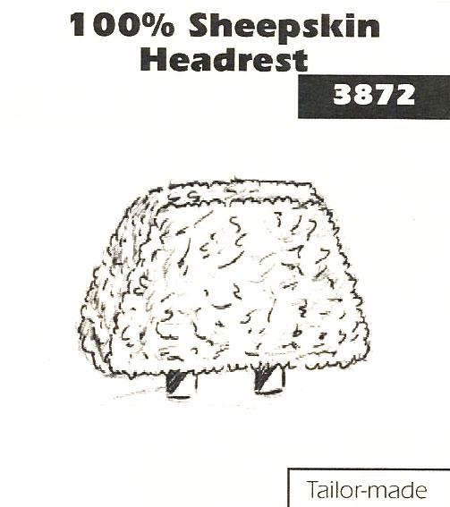 100 % Sheepskin Headrest