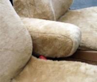 Custom Sheepskin Armrest Covers