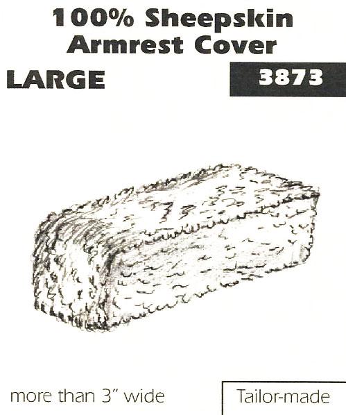 100% Sheepskin Armrest Cover Large