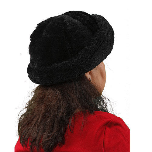 Sheepskin Jackie Fur Hat Black