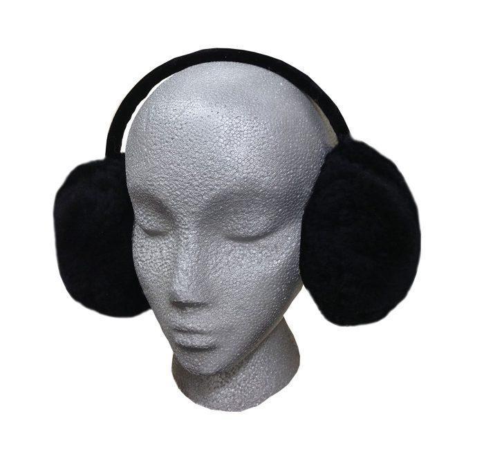 Sheepskin Earmuffs Black