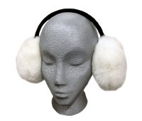 Sheepskin Earmuffs White