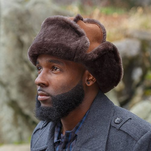 Sheepskin Mounty Fur Hat