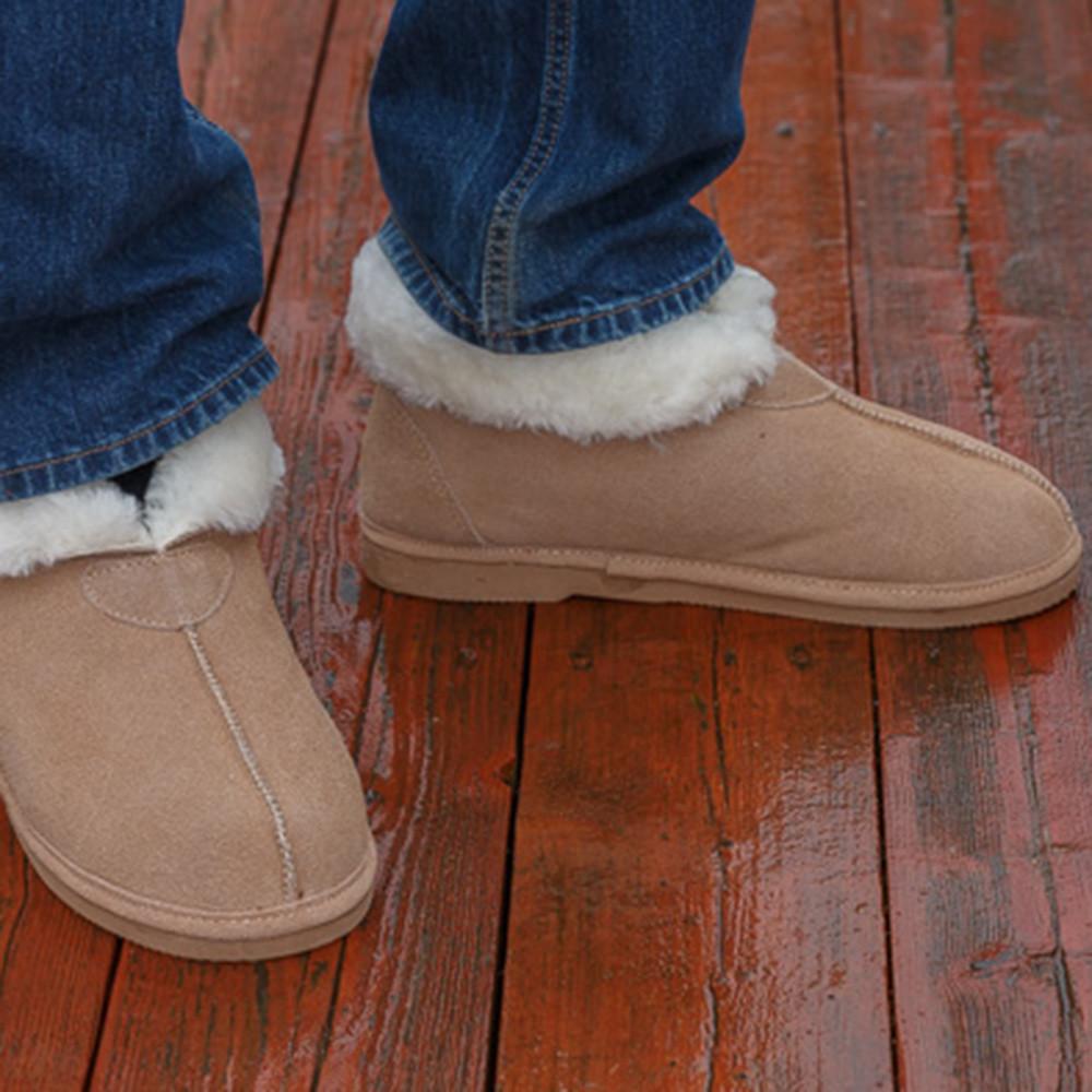 Hard Sole Sheepskin Slippers