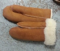 Tan Suede Mittens