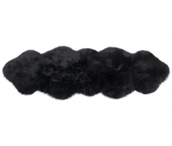 Sheepskin Rug 2 Pelt Black