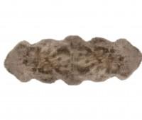 Sheepskin Rug 2 Pelt Taupe