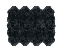 Sheepskin Rug 8 Pelt Steel Gray