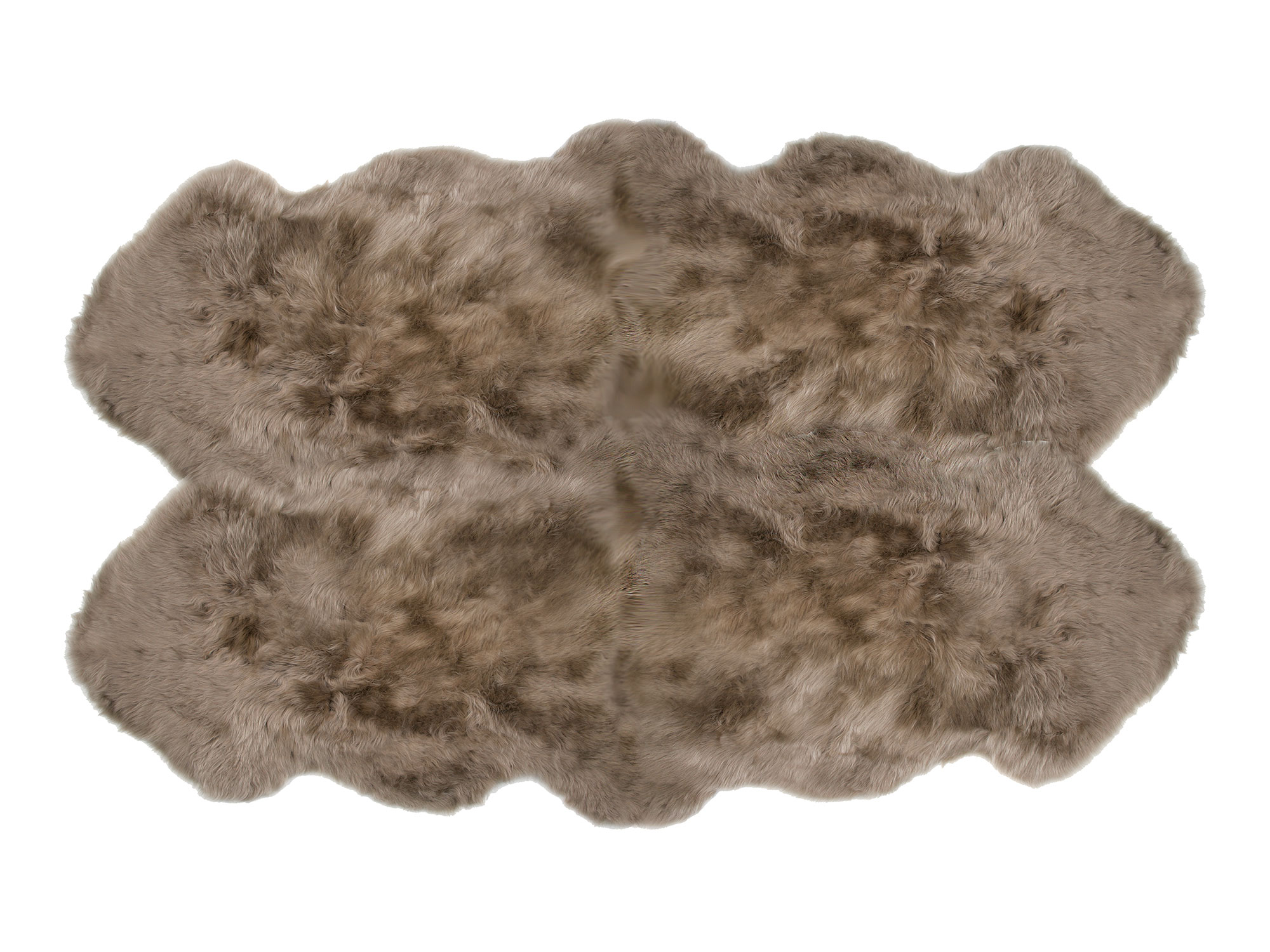 Sheepskin 4 Pelt Large Fur Rugs Taupe