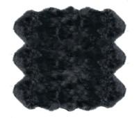 Sheepskin Rug 6 Pelt Steel Gray