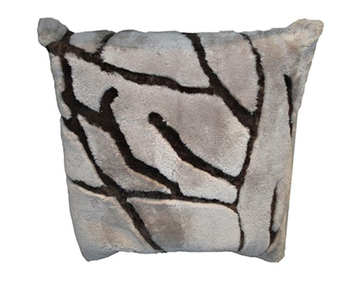 Shearling pillow branches