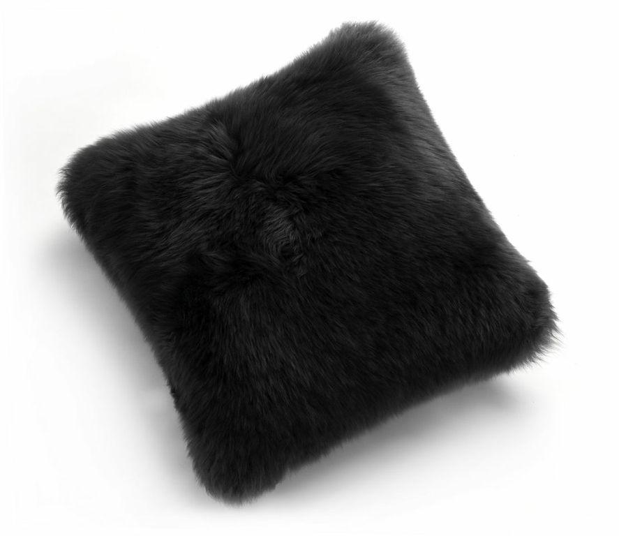 black pillow pillows fur