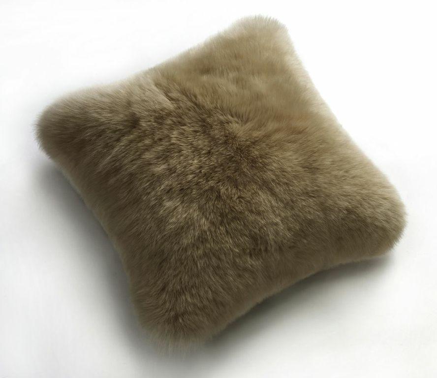 Sheepskin Pillows 20 Fur Cushions Vole Gray Ultimate