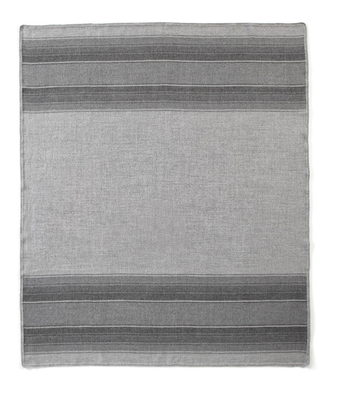 Gray Striped Alpca Throw
