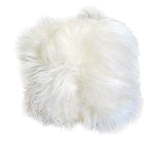 Natural Ivory Fur Pillow