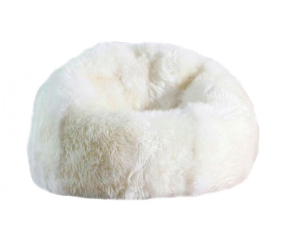Sheepskin Bean Bag Chair Designer Colors Large 3 Unfilled