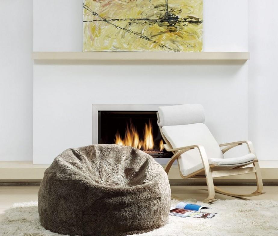 sheepskin bean bag chair designer colors large 3 unfilled. Black Bedroom Furniture Sets. Home Design Ideas
