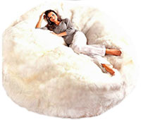 Sheepskin Bean Bag Chairs Jumbo