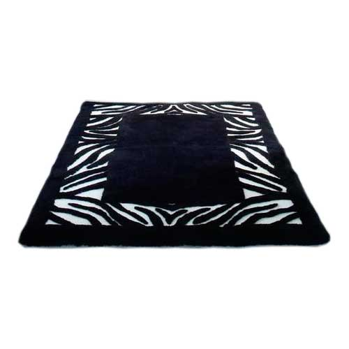 Sheepskin Designer Rug Zebra