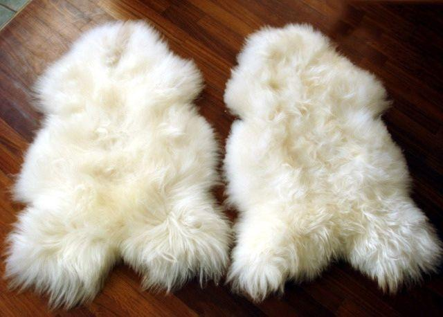 Arctic Sheepskin Pelt Rugs Undyed Super Long Icelandic