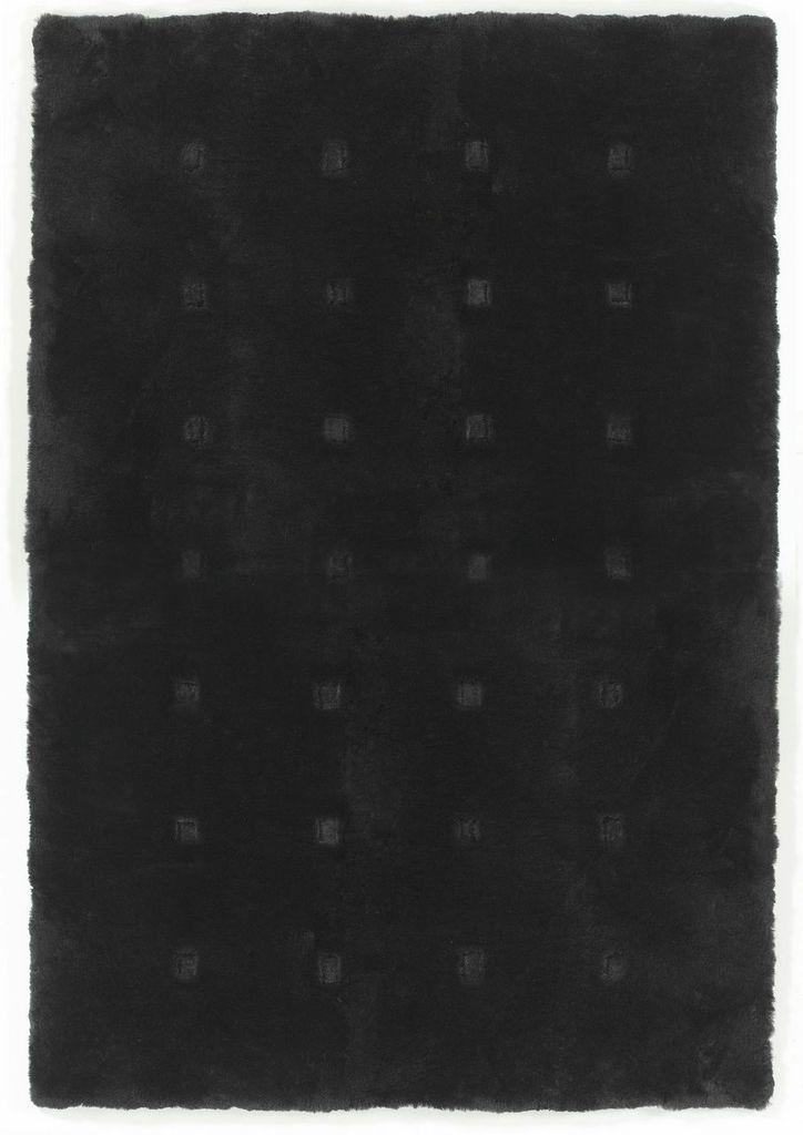 Sheepskin Designer Rug Bevel in Black
