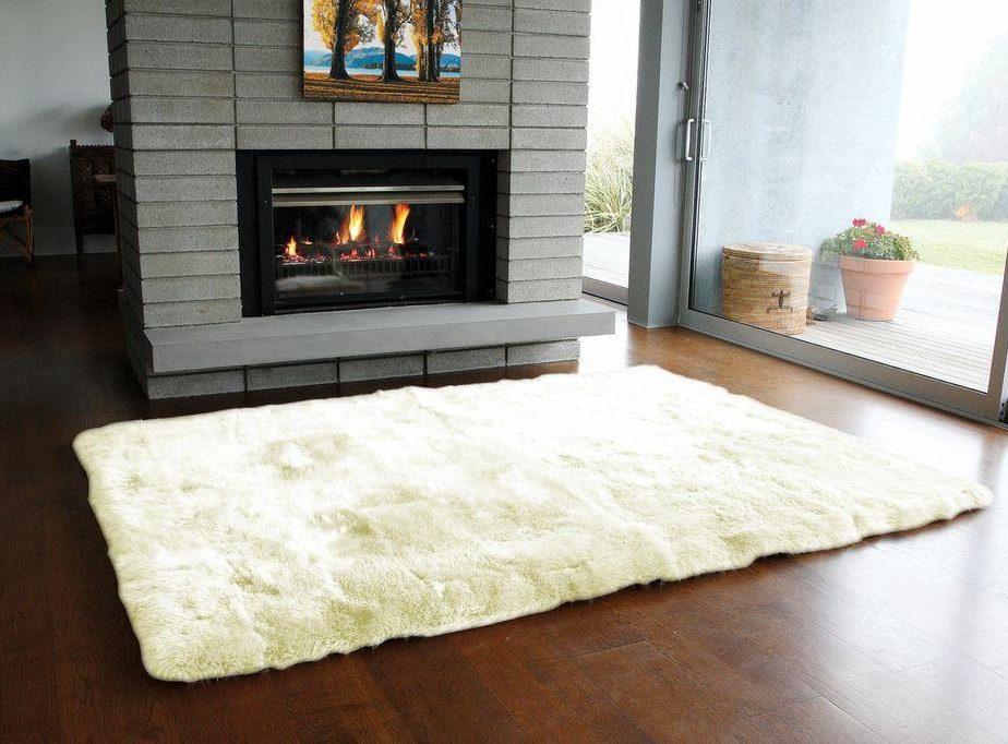 Perfect ... Sheepskin Rug Long Wool Ivory ...