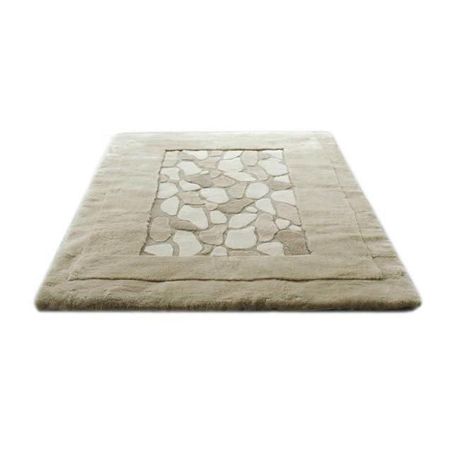 Sheepskin Designer Rug Stones