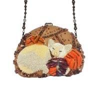Mary Frances Handbag Cat Nap